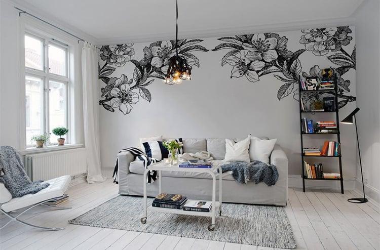 Fototapet alb-negru pentru locuinţe elegante