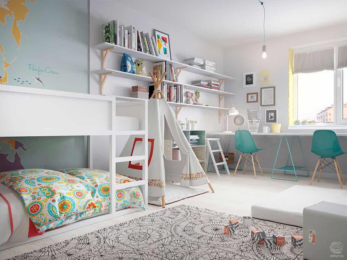 stilul mobilierului din camera copilului