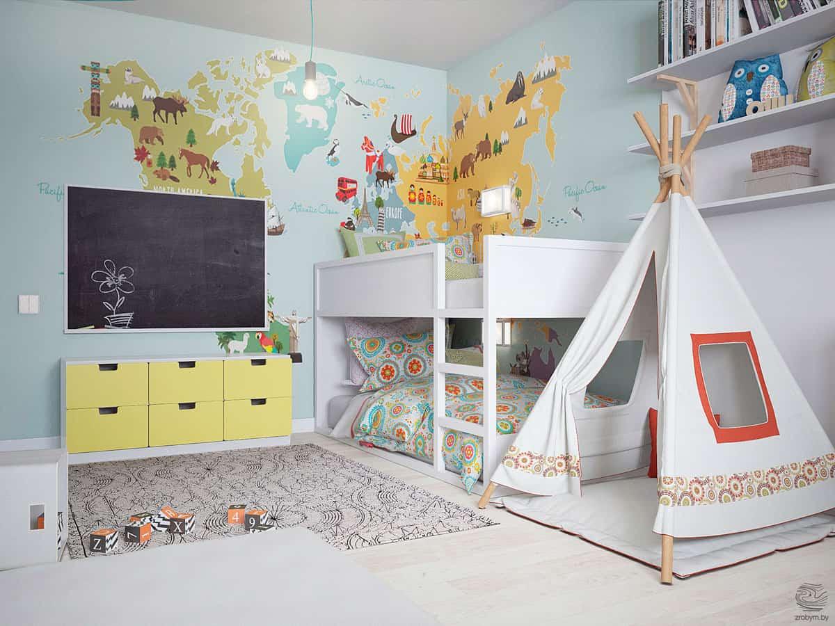stilul mobilei pentru camera copilului