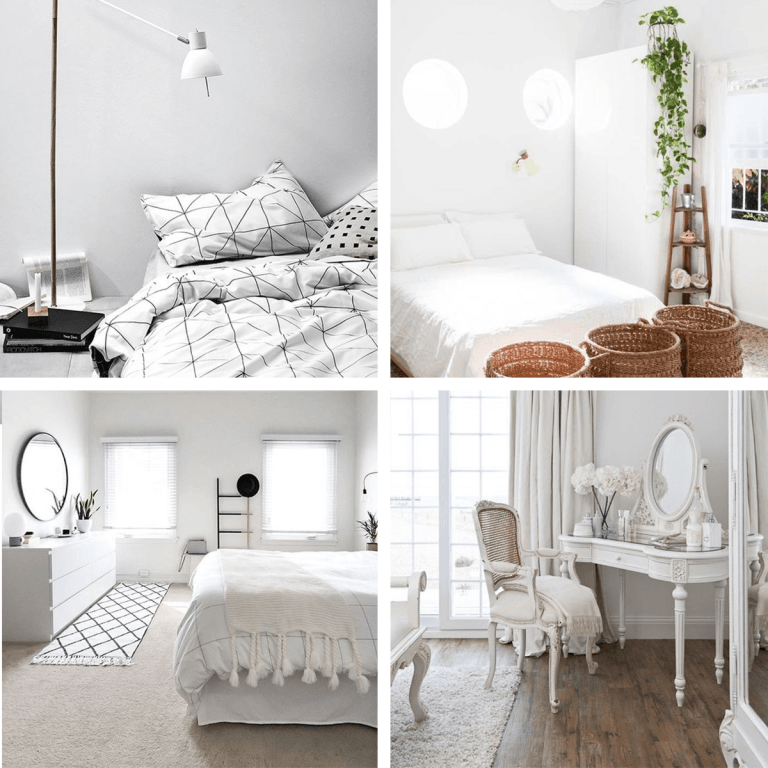 mobila alba dormitor