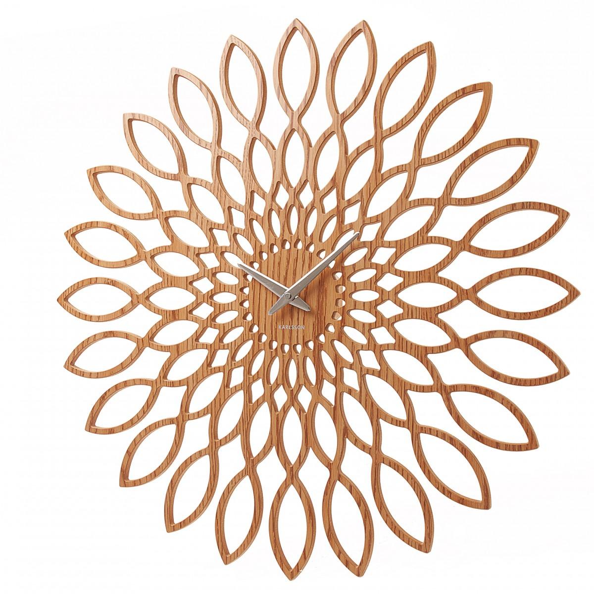 Ceas de perete Sunflower cu finisaj din lemn, Karlsson
