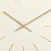 Ceas de perete Maxiemus cu accente de alamă, alb, Karlsson