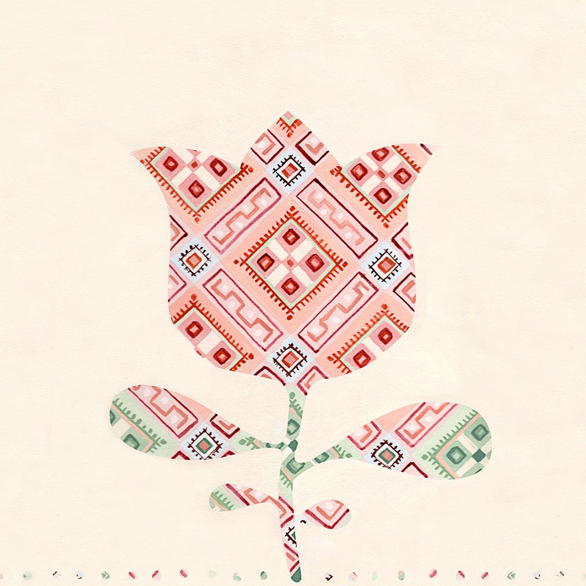 Fototapet FolkWall - Flori alese