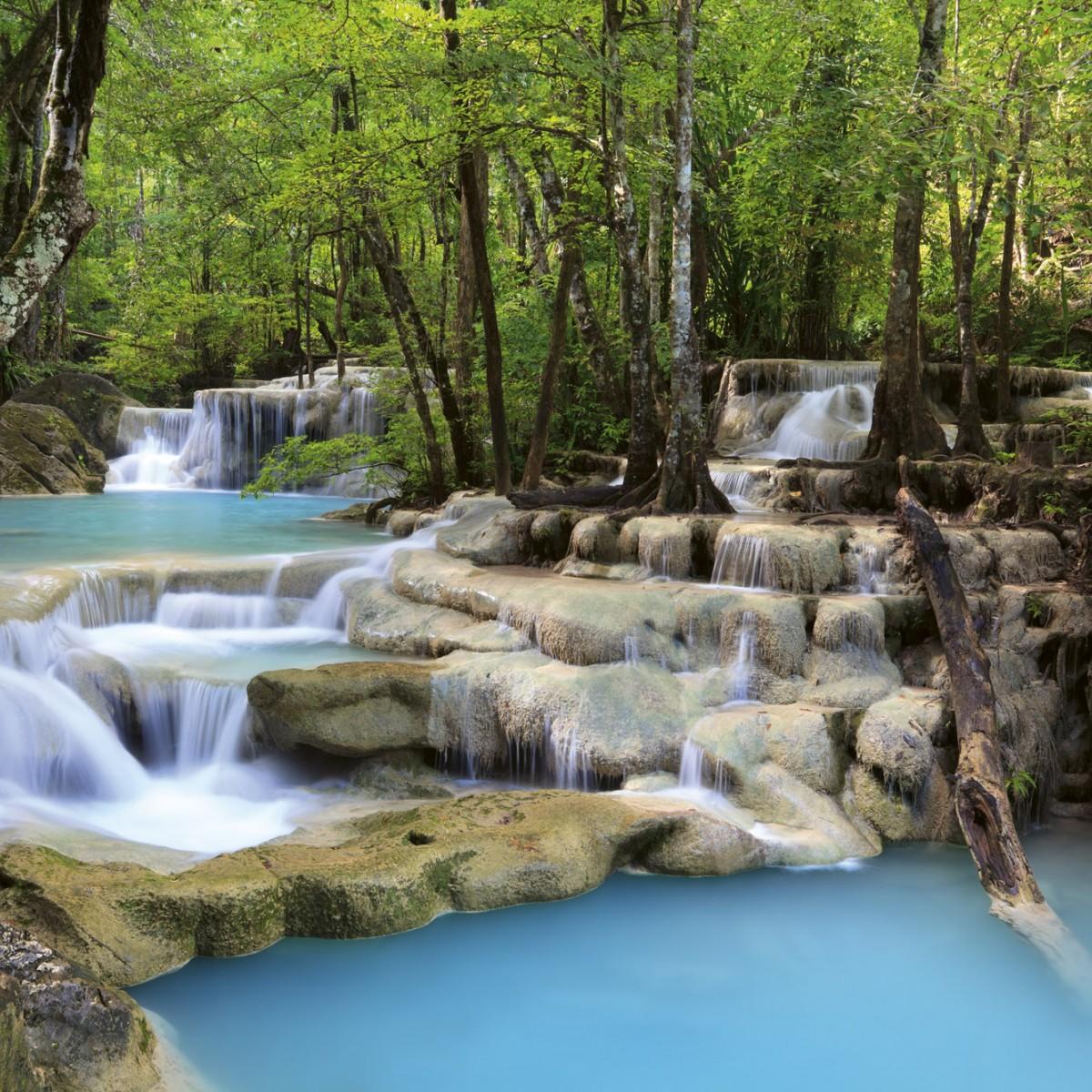 Foto tapet 3D Waterfall, Dimex, 5 fâșii, 375 x 250cm
