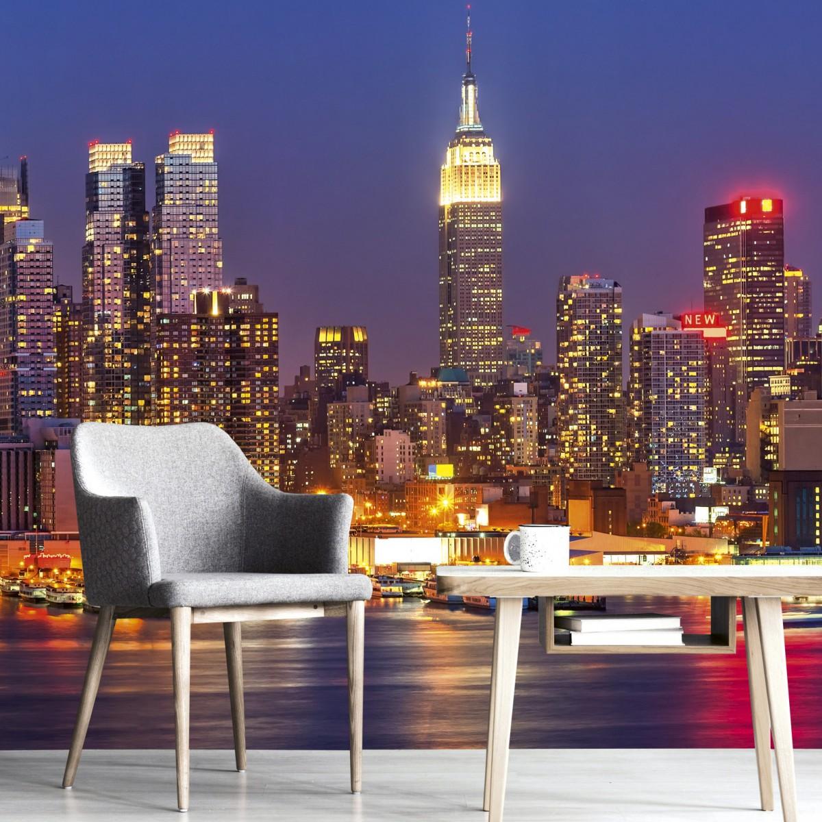 Foto tapet 3D Manhattan At Night, Dimex, 5 fâșii, 375 x 250cm