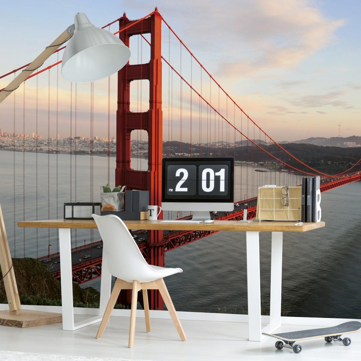 Foto tapet 3D Golden Gate, Dimex, 5 fâșii, 375 x 250cm