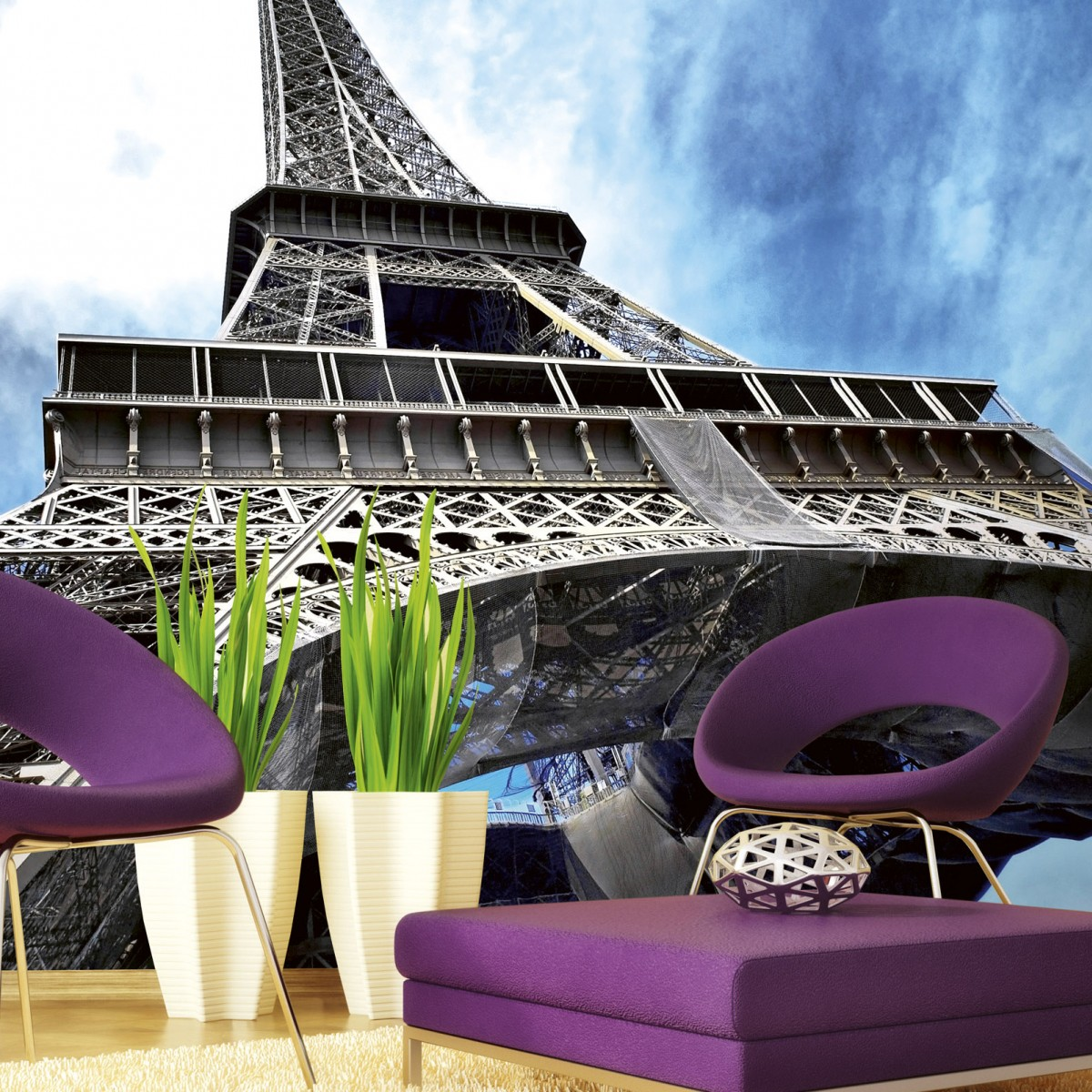 Foto tapet 3D Eiffel Tower, Dimex, 5 fâșii, 375 x 250cm