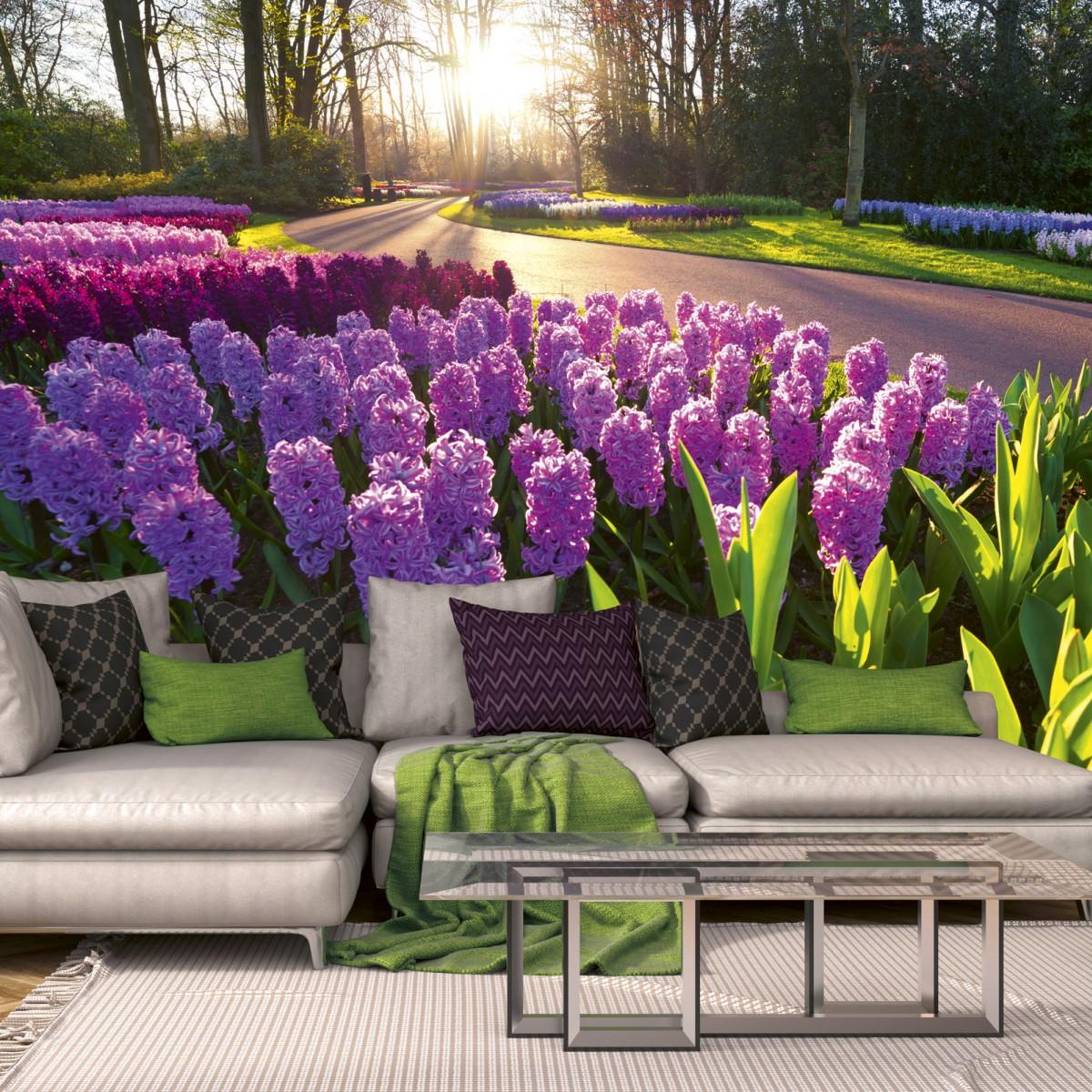 Foto tapet 3D Hyacint Flowers, Dimex, 5 fâșii, 375 x 250cm