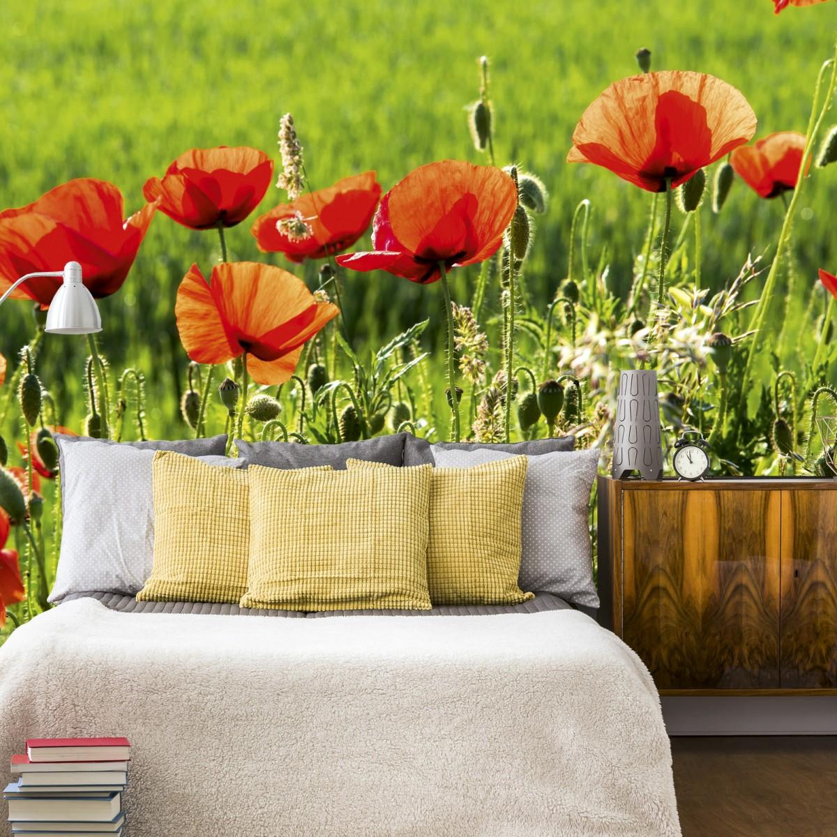 Foto tapet 3D Poppy Field, Dimex, 5 fâșii, 375 x 250cm