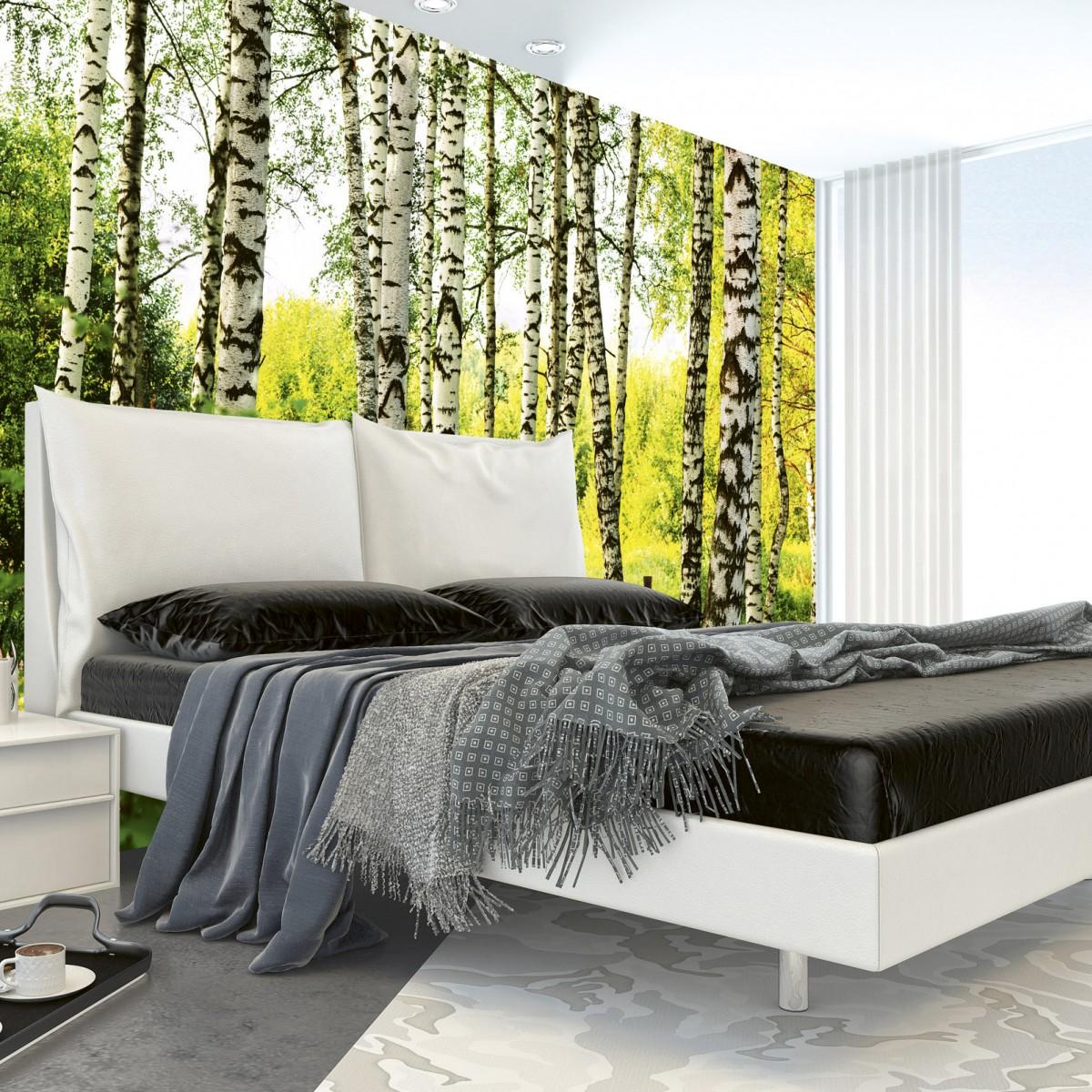 Foto tapet 3D Birch Forest, Dimex, 5 fâșii, 375 x 250cm