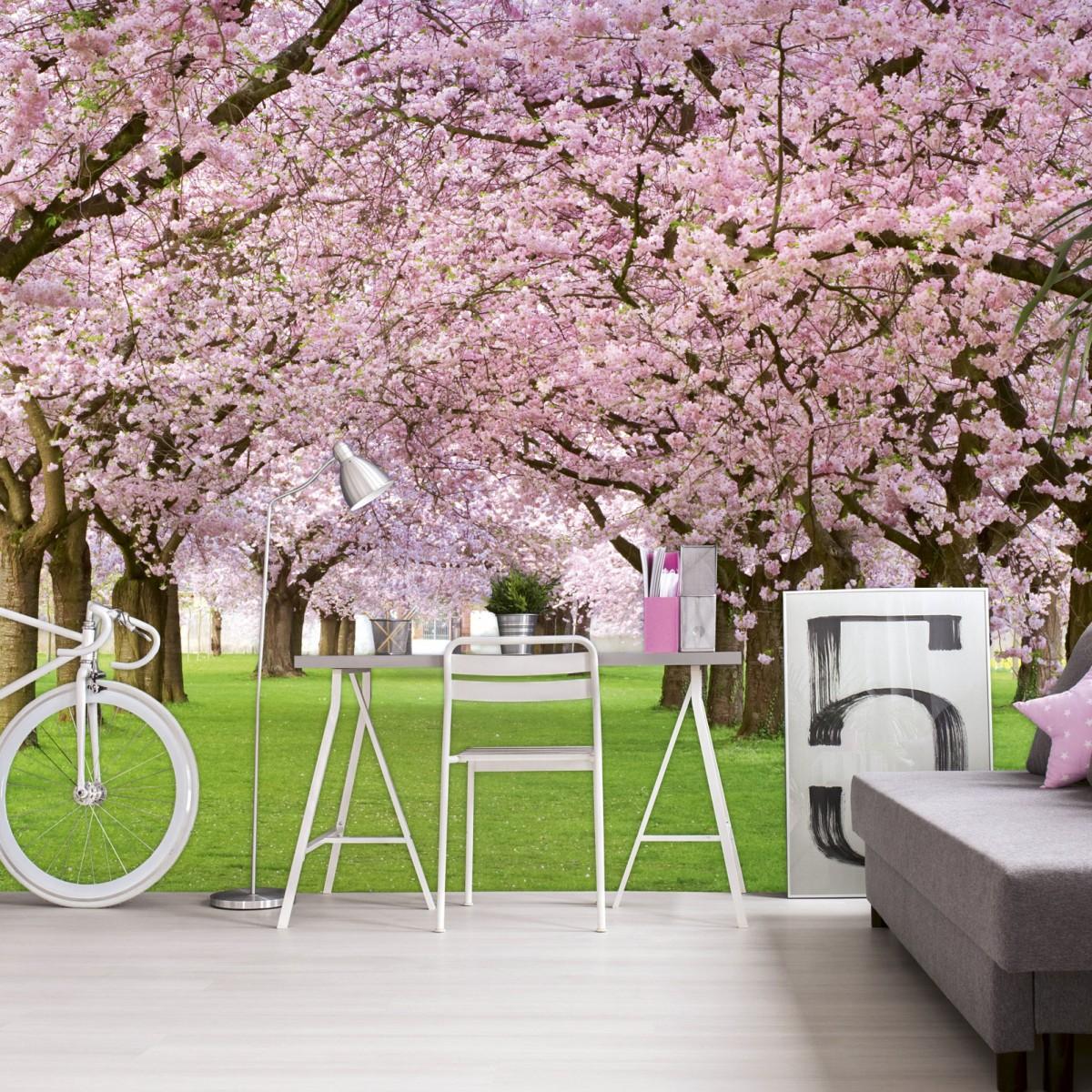 Foto tapet 3D Cherry Trees, Dimex, 5 fâșii, 375 x 250cm