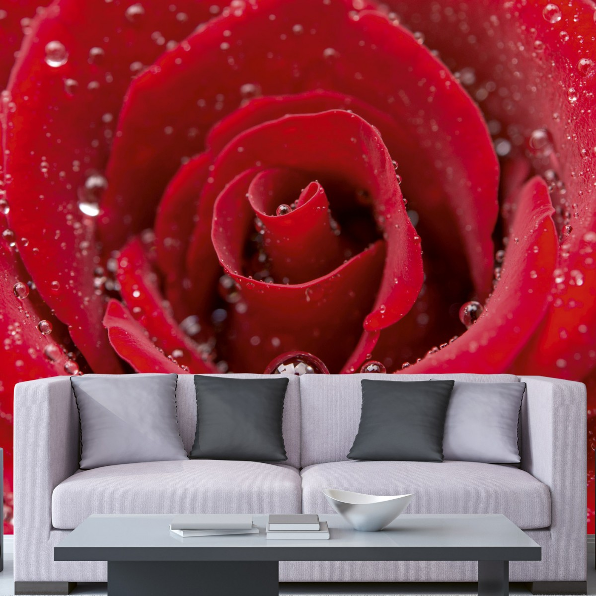 Foto tapet 3D Red Rose, Dimex, 5 fâșii, 375 x 250cm
