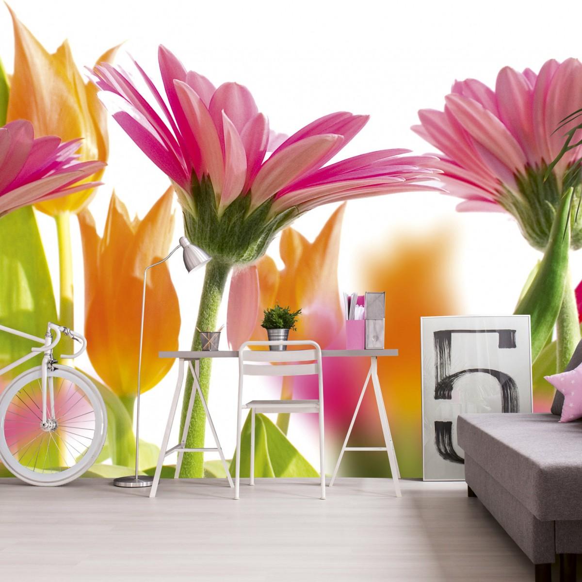 Foto tapet 3D Spring Flowers, Dimex, 5 fâșii, 375 x 250cm