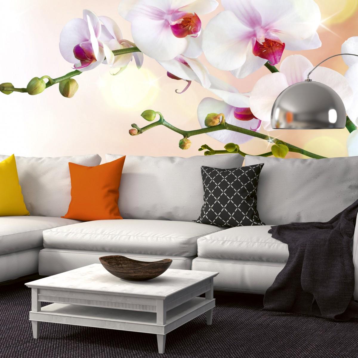 Foto tapet 3D White Orchid, Dimex, 5 fâșii, 375 x 250cm