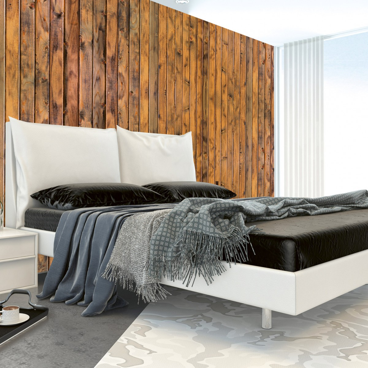 Foto tapet 3D Wood Plank, Dimex, 5 fâșii, 375 x 250cm
