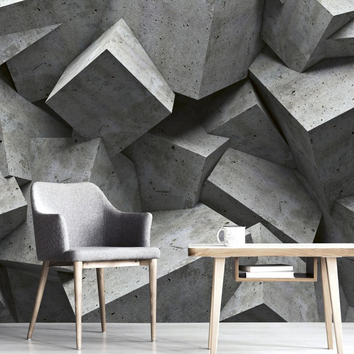 Foto tapet 3D Concrete Cubes, Dimex, 5 fâșii, 375 x 250cm