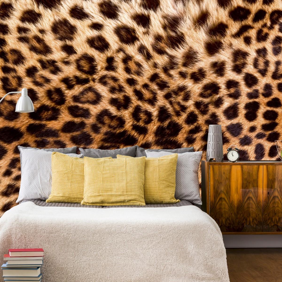 Foto tapet 3D Leopard Skin, Dimex, 5 fâșii, 375 x 250cm