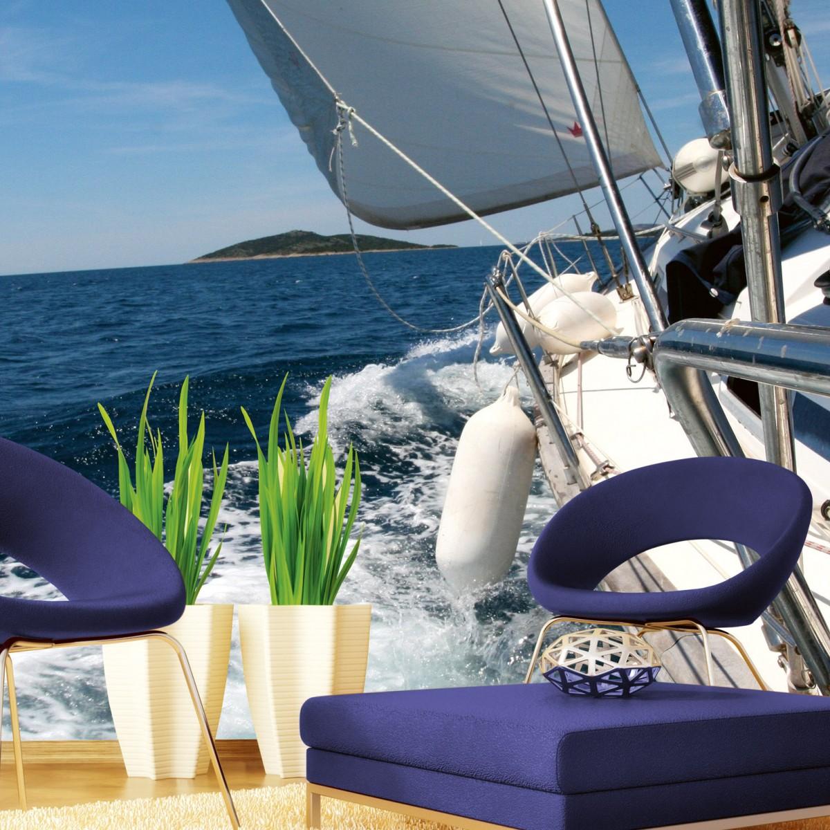 Foto tapet 3D Sailing, Dimex, 5 fâșii, 375 x 250cm