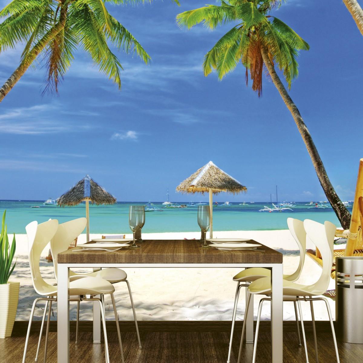 Foto tapet 3D Tropical Beach, Dimex, 5 fâșii, 375 x 250cm