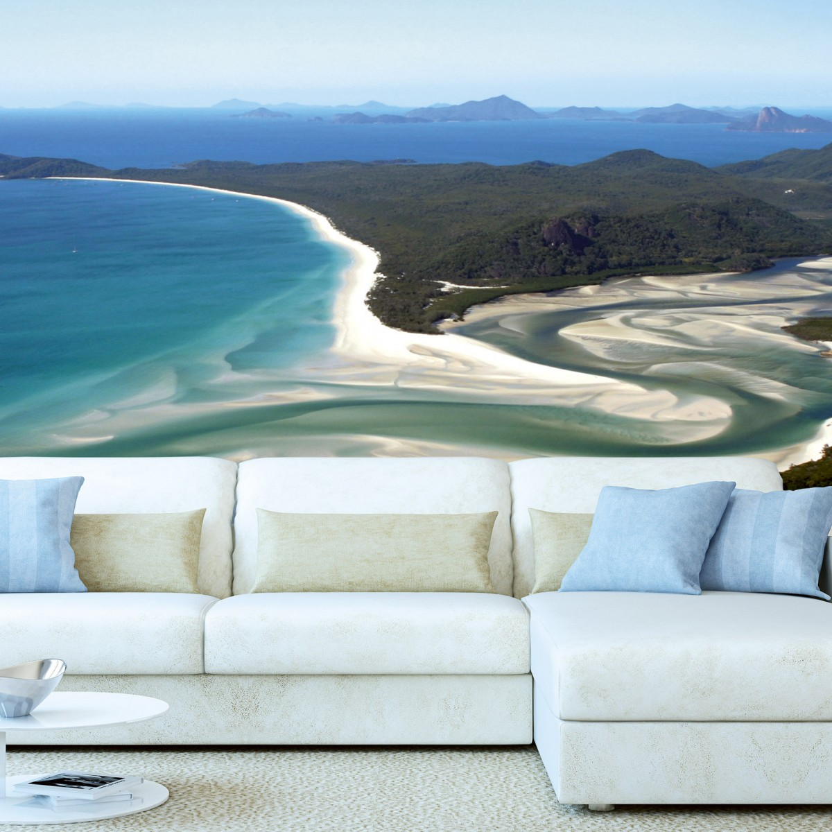 Foto tapet 3D Aerial View Of Beach, Dimex, 5 fâșii, 375 x 250cm