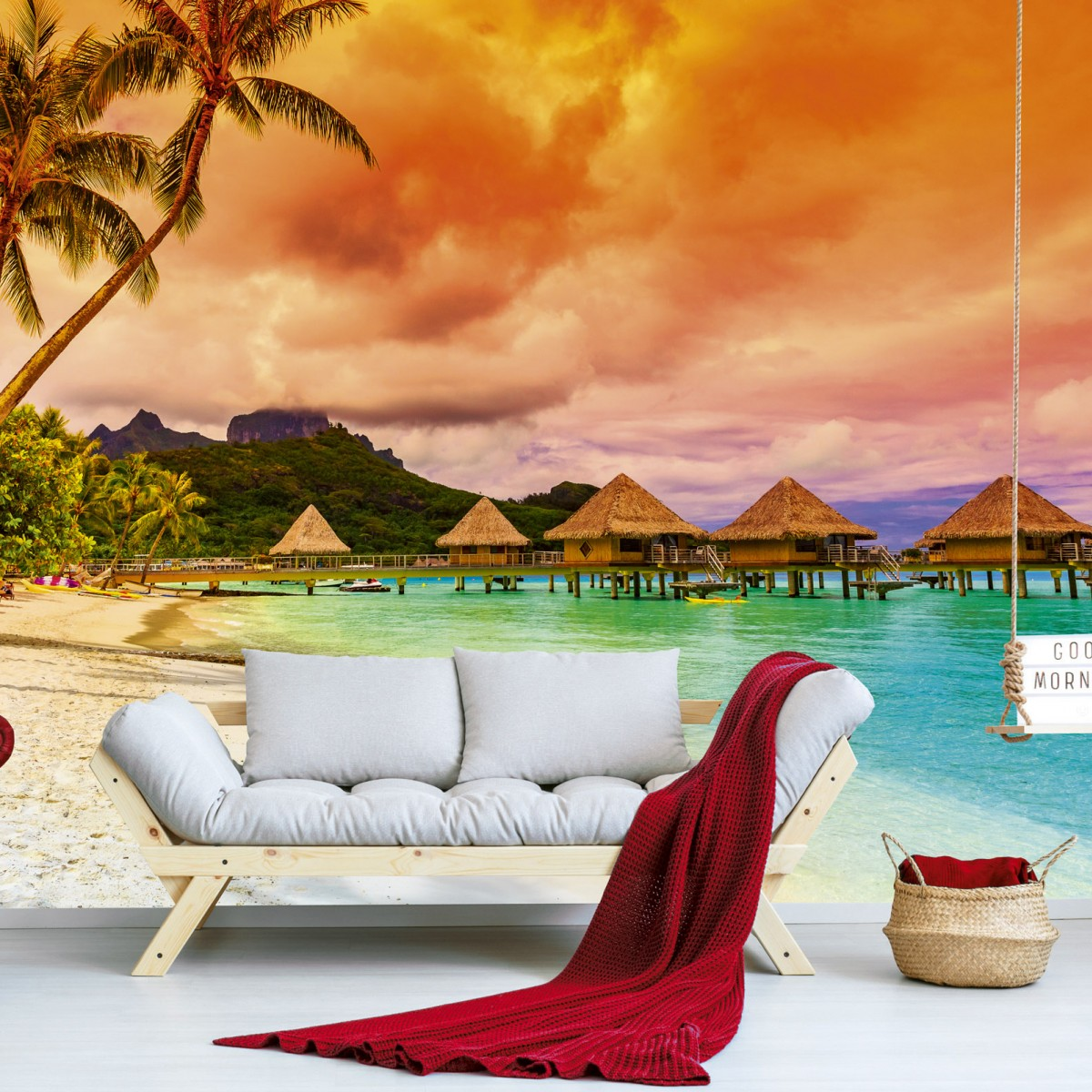 Foto tapet 3D Polynesia, Dimex, 5 fâșii, 375 x 250cm
