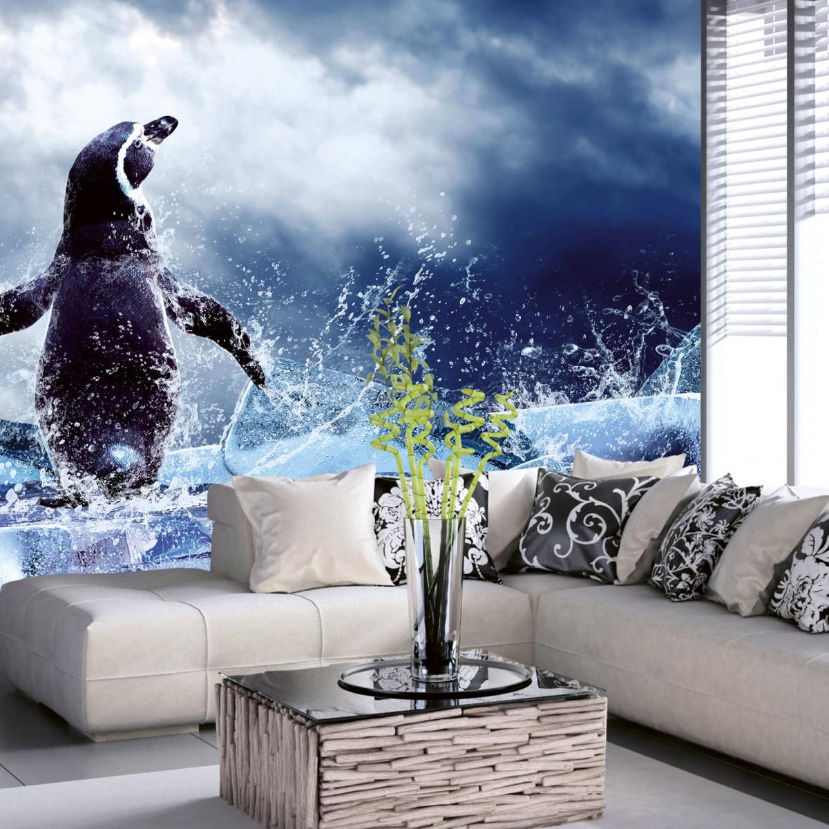 Foto tapet 3D Penguin, Dimex, 5 fâșii, 375 x 250cm