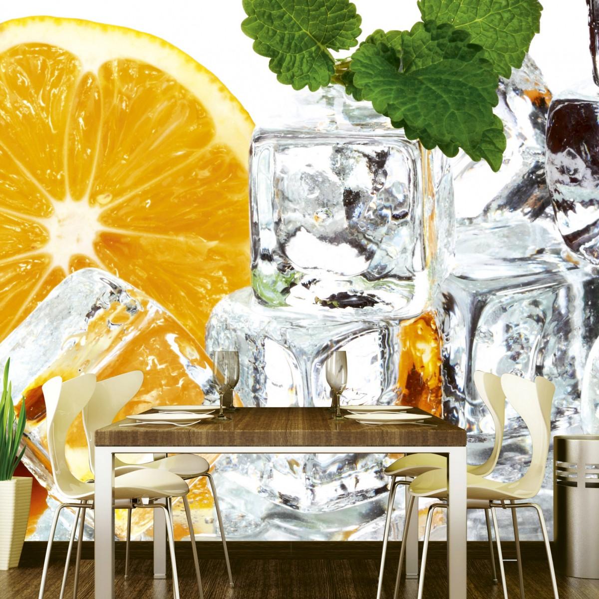 Foto tapet 3D Lemon And Ice, Dimex, 5 fâșii, 375 x 250cm