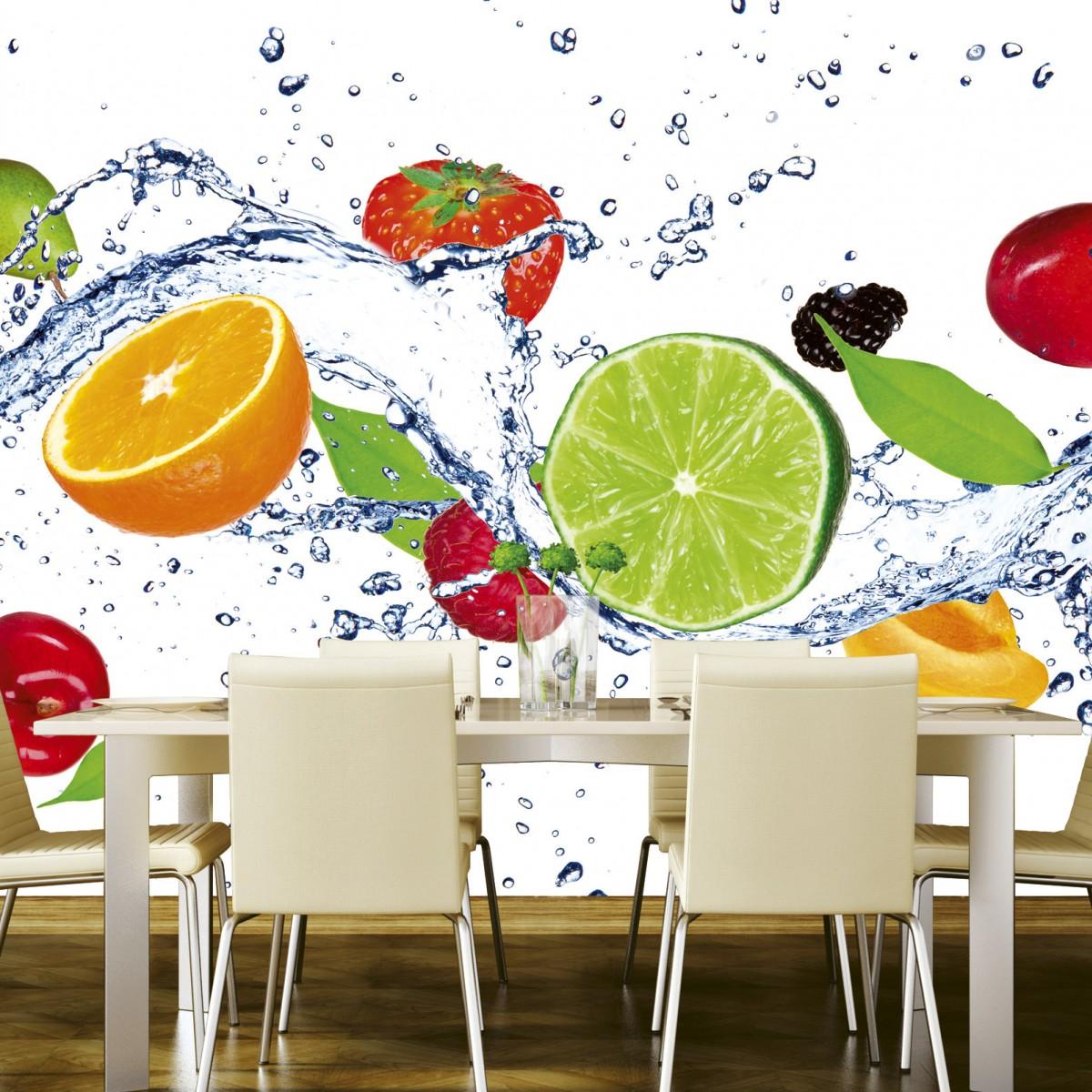 Foto tapet 3D Fruits In Water, Dimex, 5 fâșii, 375 x 250cm