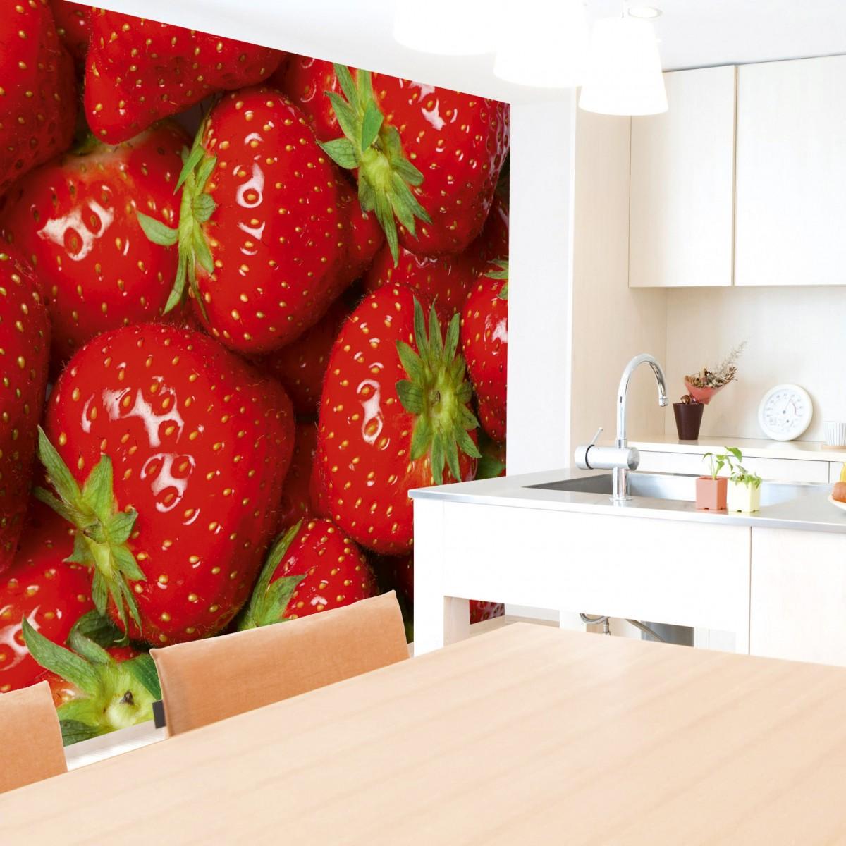 Foto tapet 3D Strawberry, Dimex, 5 fâșii, 375 x 250cm