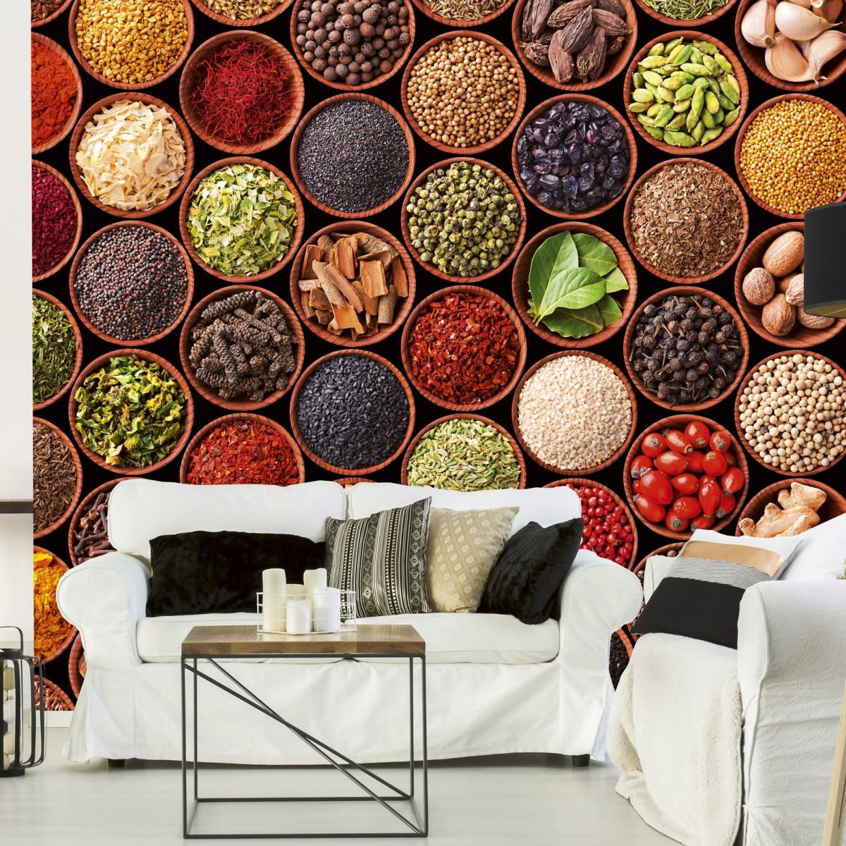 Foto tapet 3D Spice Bowls, Dimex, 5 fâșii, 375 x 250cm