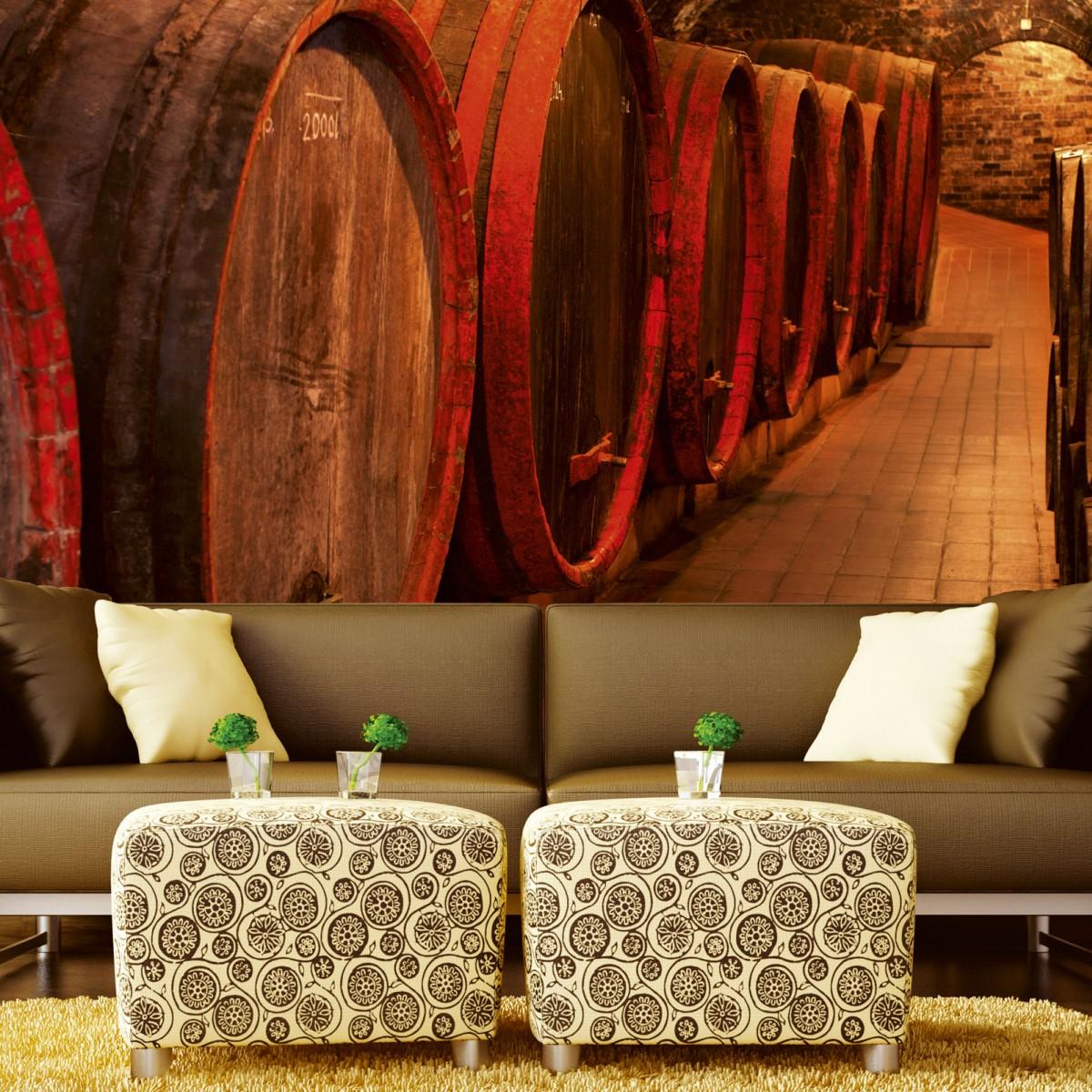 Foto tapet 3D Wine Barrels, Dimex, 5 fâșii, 375 x 250cm