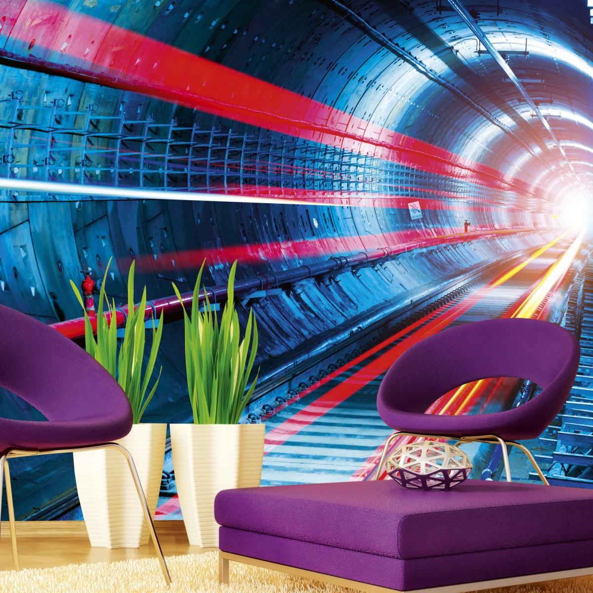 Foto tapet 3D Tunnel, Dimex, 5 fâșii, 375 x 250cm