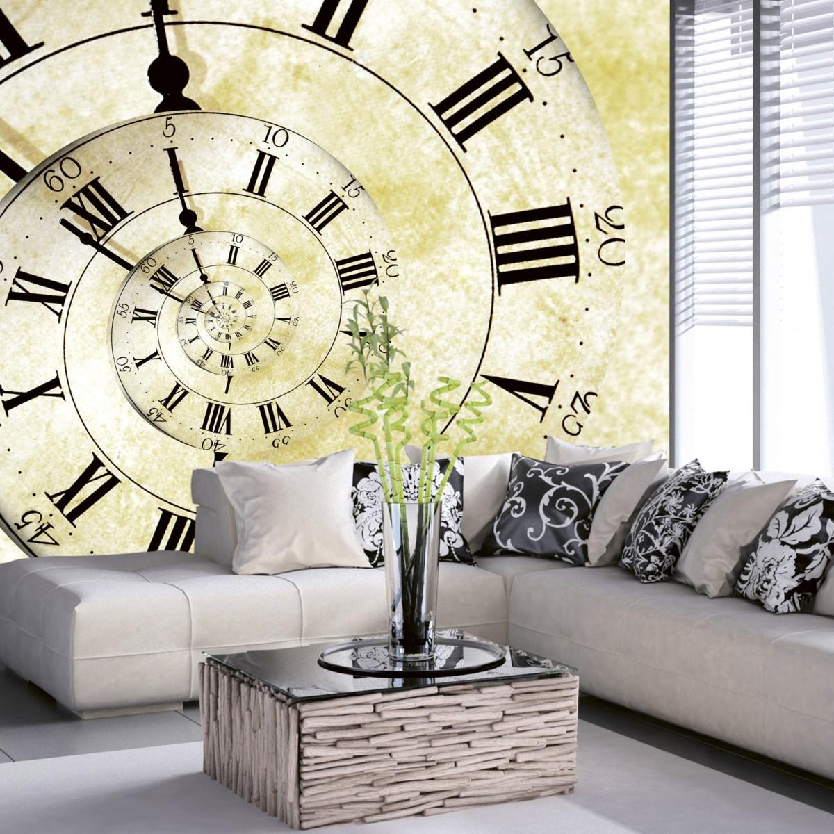 Foto tapet 3D Spiral Clock, Dimex, 5 fâșii, 375 x 250cm