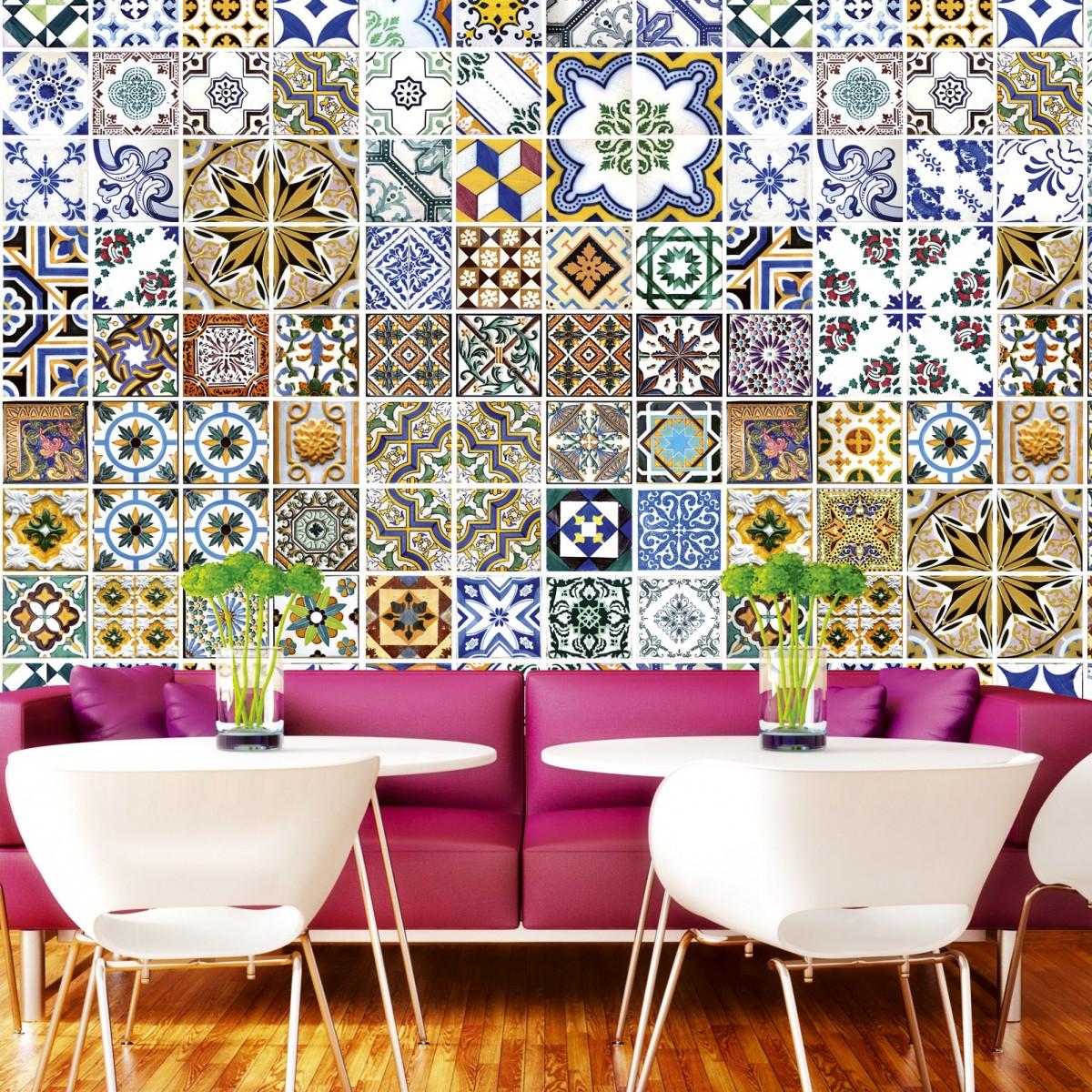 Foto tapet 3D Portugal Tiles, Dimex, 5 fâșii, 375 x 250cm