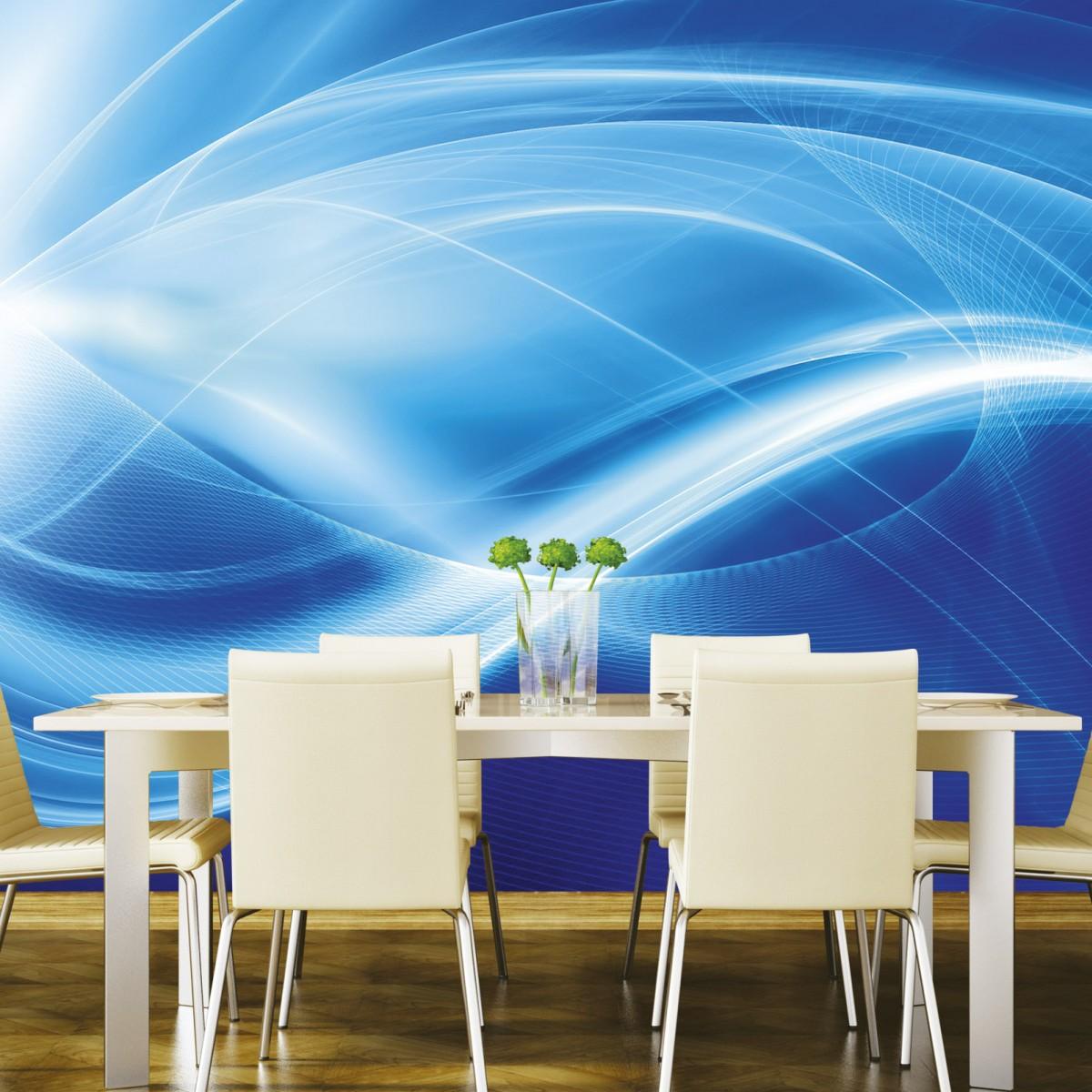 Foto tapet 3D Blue Abstract, Dimex, 5 fâșii, 375 x 250cm