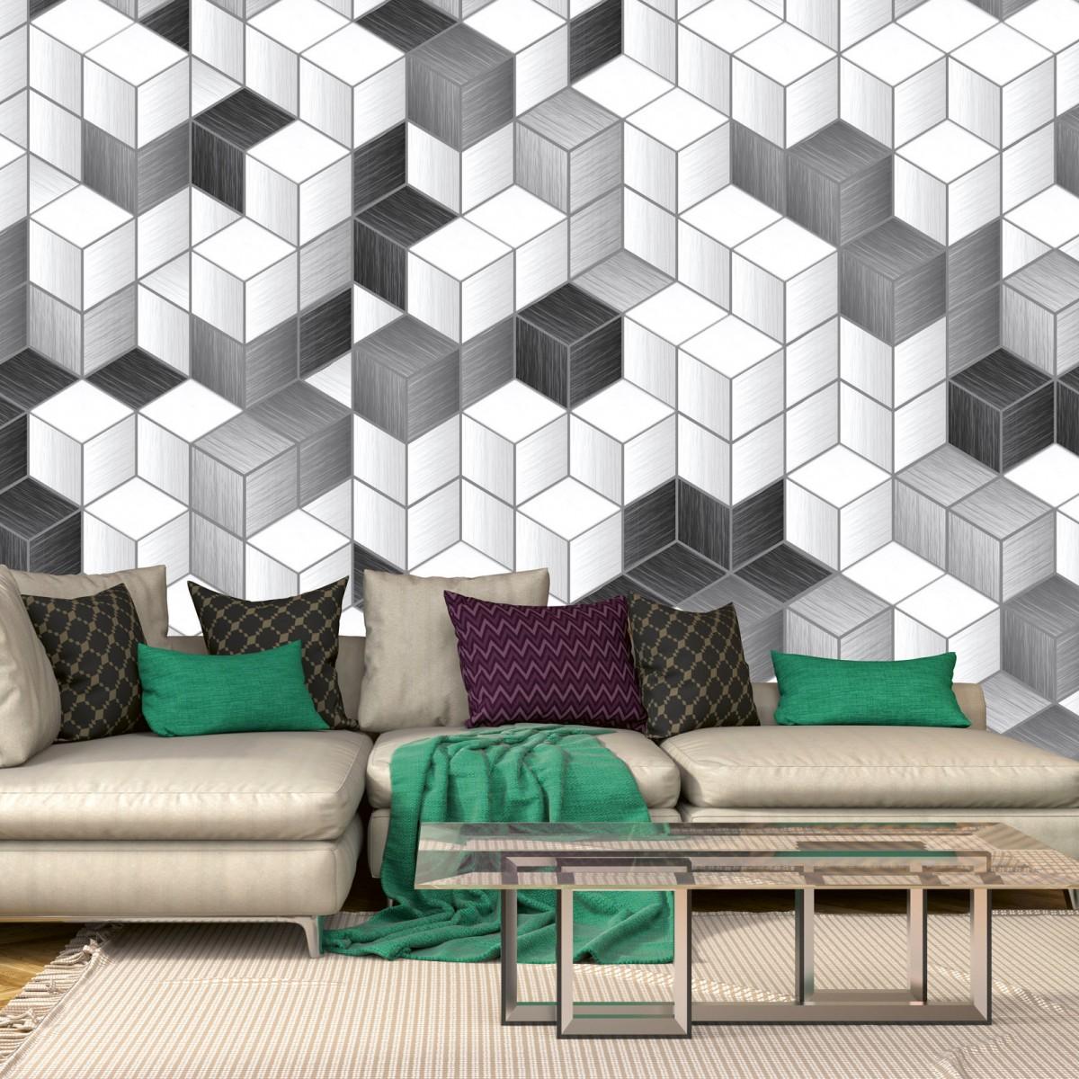 Foto tapet 3D Cube Blocks, Dimex, 5 fâșii, 375 x 250cm