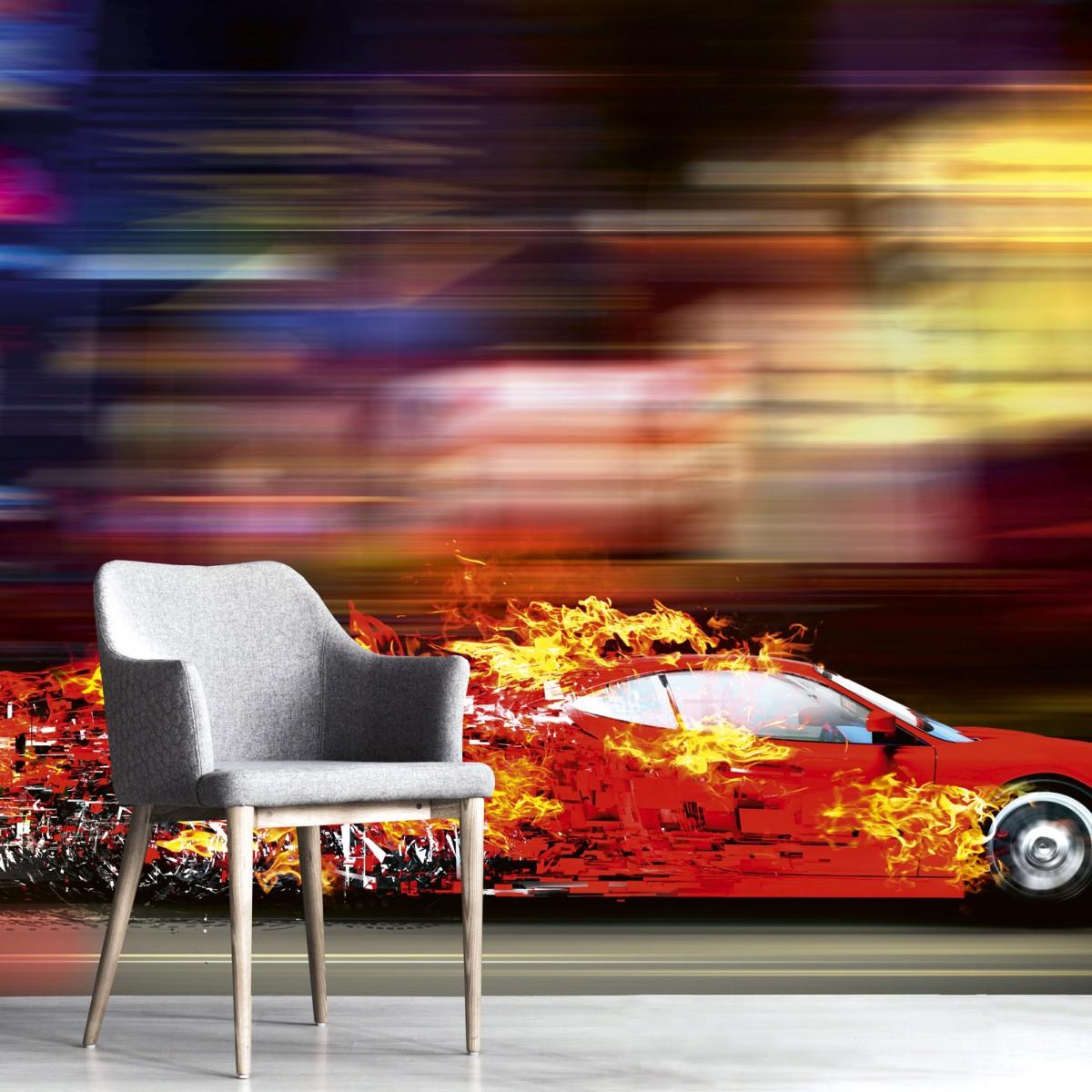 Foto tapet 3D Speeding Car, Dimex, 5 fâșii, 375 x 250cm