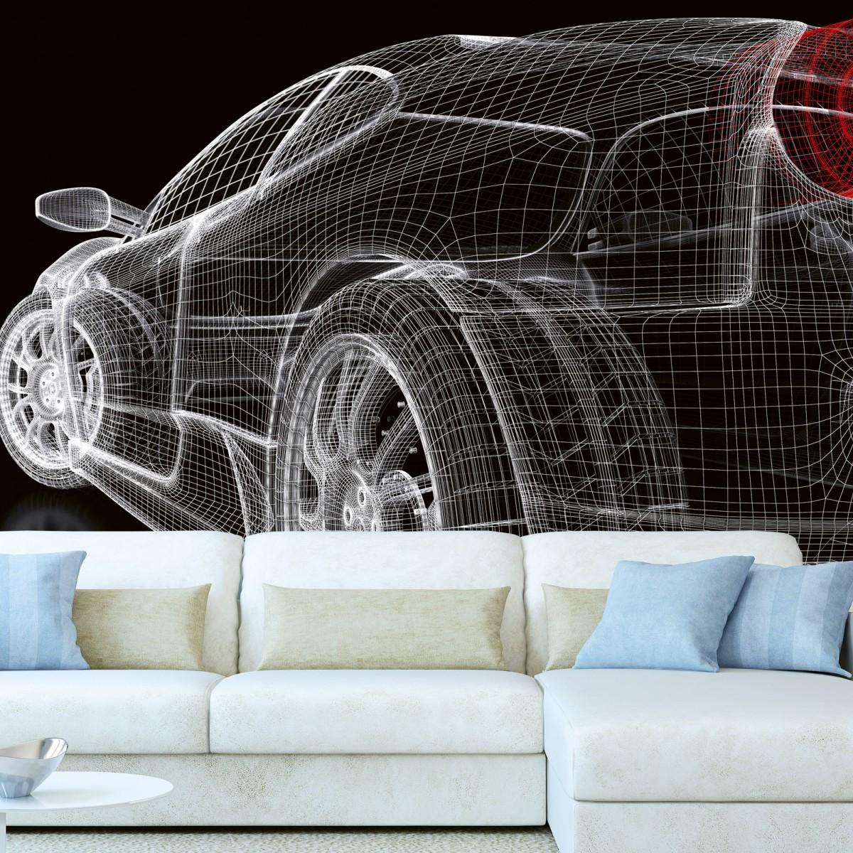 Foto tapet 3D Car Model Dark, Dimex, 5 fâșii, 375 x 250cm