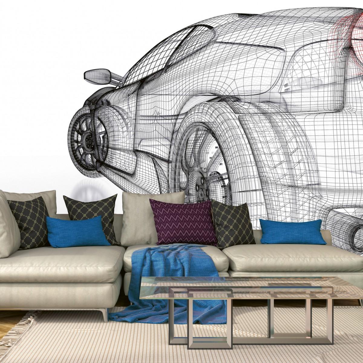 Foto tapet 3D Car Model Light, Dimex, 5 fâșii, 375 x 250cm
