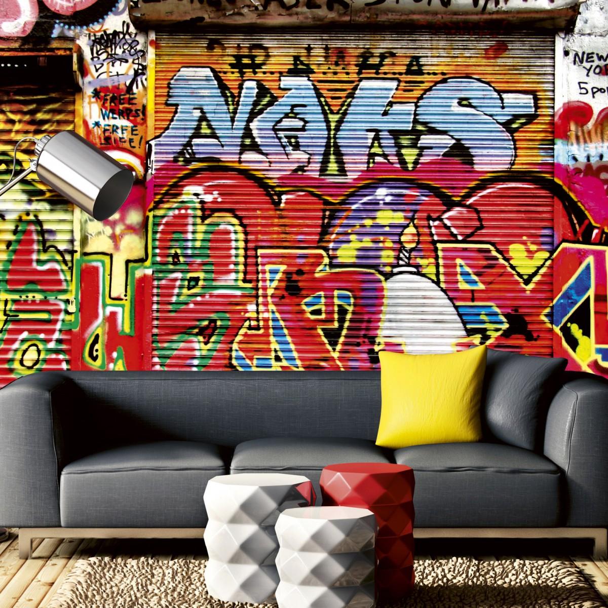 Foto tapet 3D Graffiti Street, Dimex, 5 fâșii, 375 x 250cm