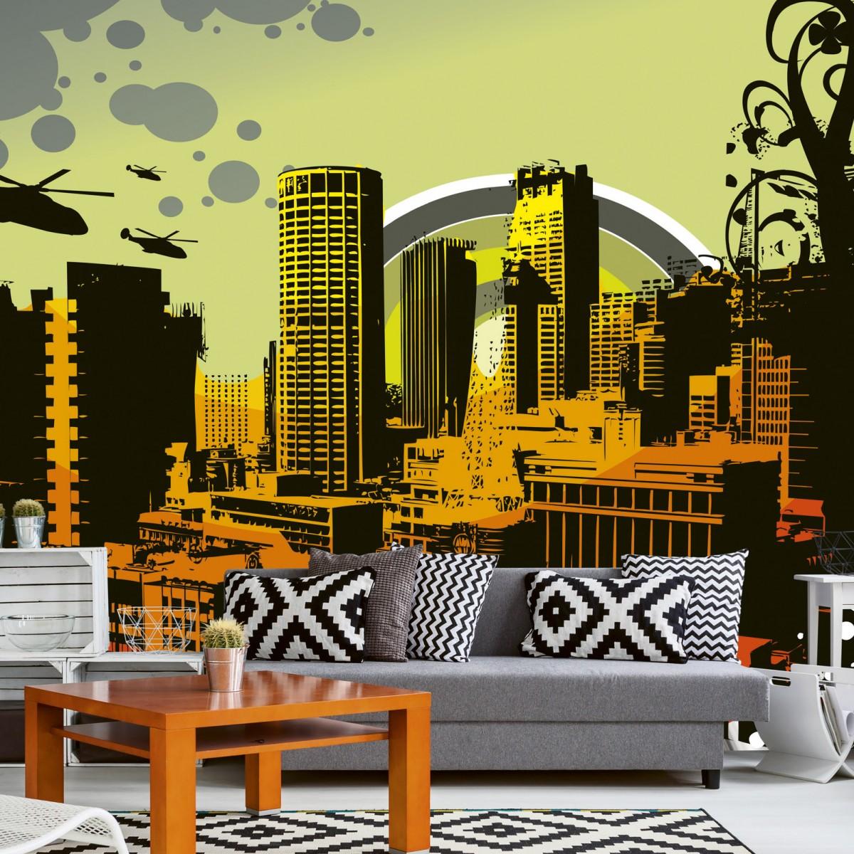 Foto tapet 3D City, Dimex, 5 fâșii, 375 x 250cm