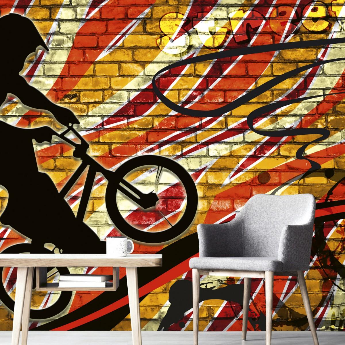 Foto tapet 3D Bicycle Red, Dimex, 5 fâșii, 375 x 250cm