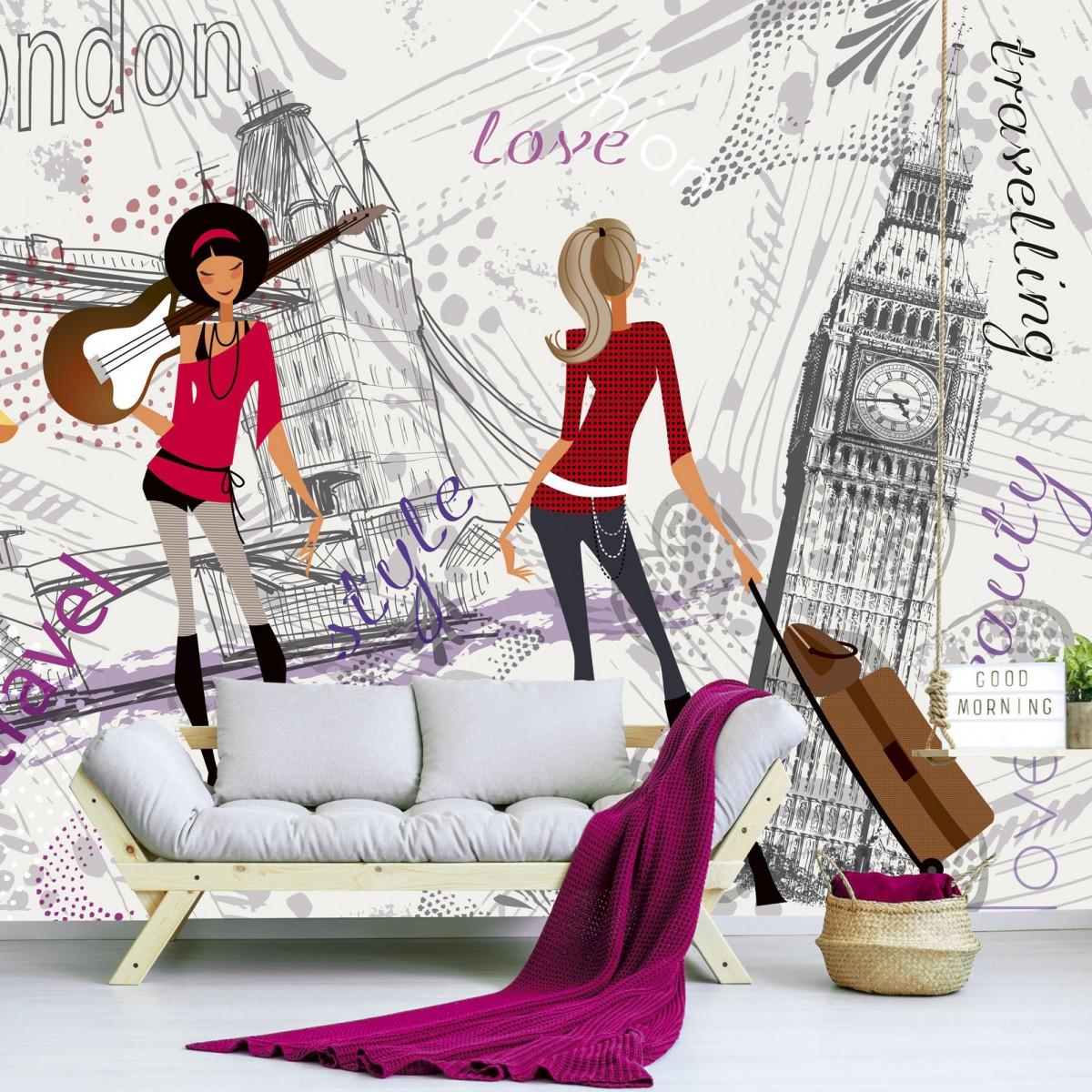 Foto tapet 3D London Style, Dimex, 5 fâșii, 375 x 250cm