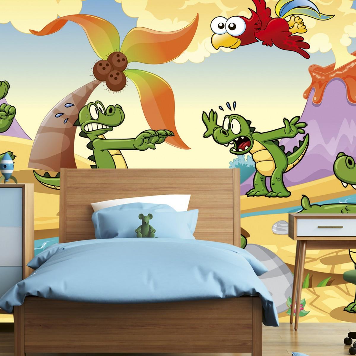 Foto tapet 3D Crocodiles, Dimex, 5 fâșii, 375 x 250cm