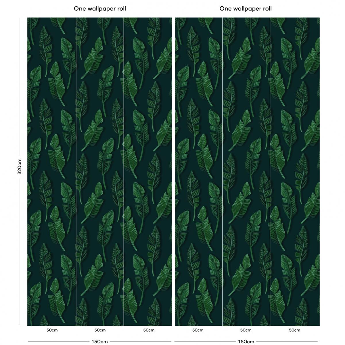 Tapet designer Jungle Breeze (Jungle Leaf) - Feathr