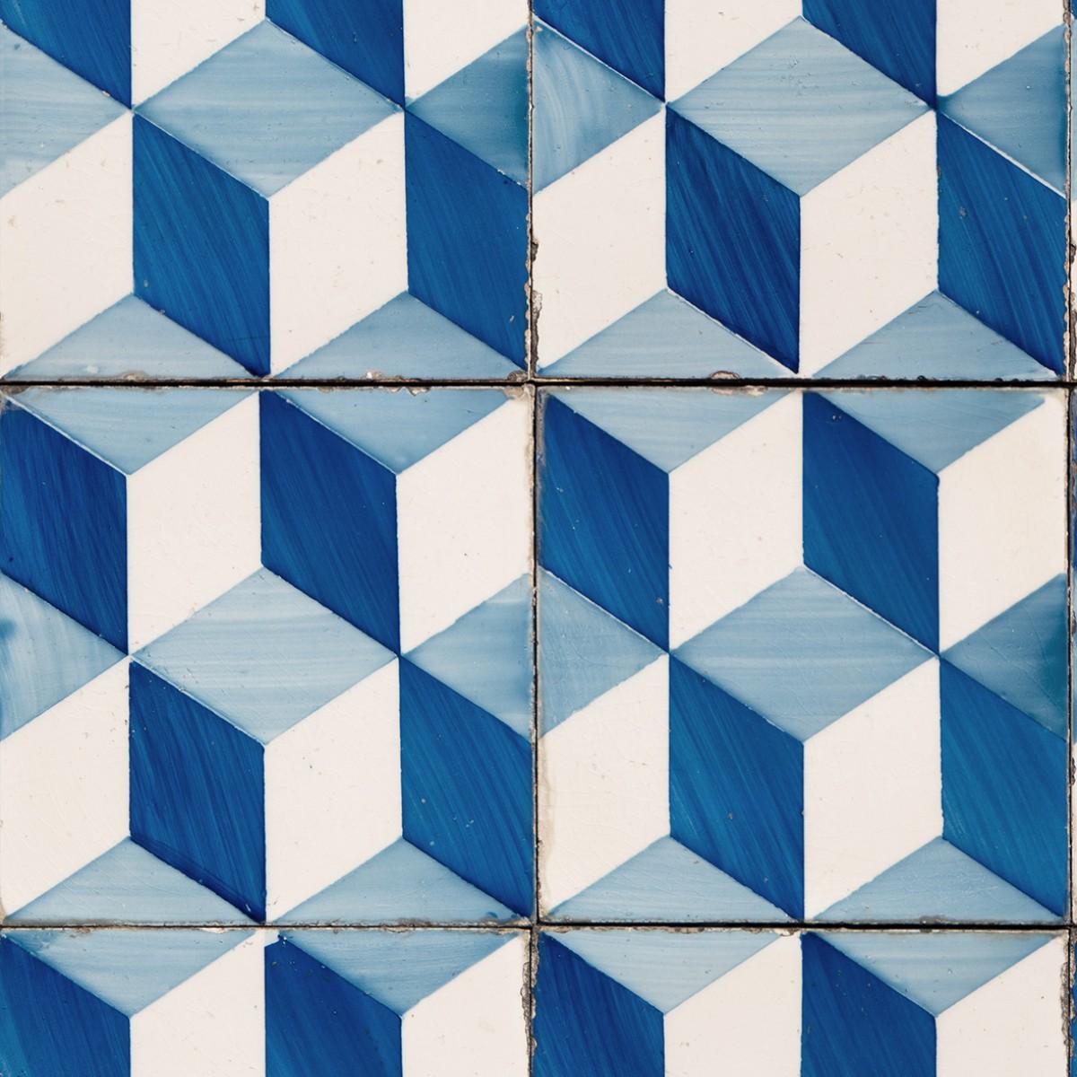 Tapet designer Lisbon (Portuguese Tile) - Feathr
