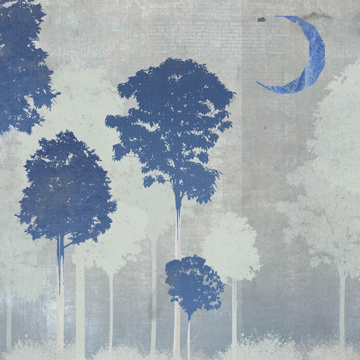 Fototapet contemporan Foresta Azul, personalizat, Idea Murale