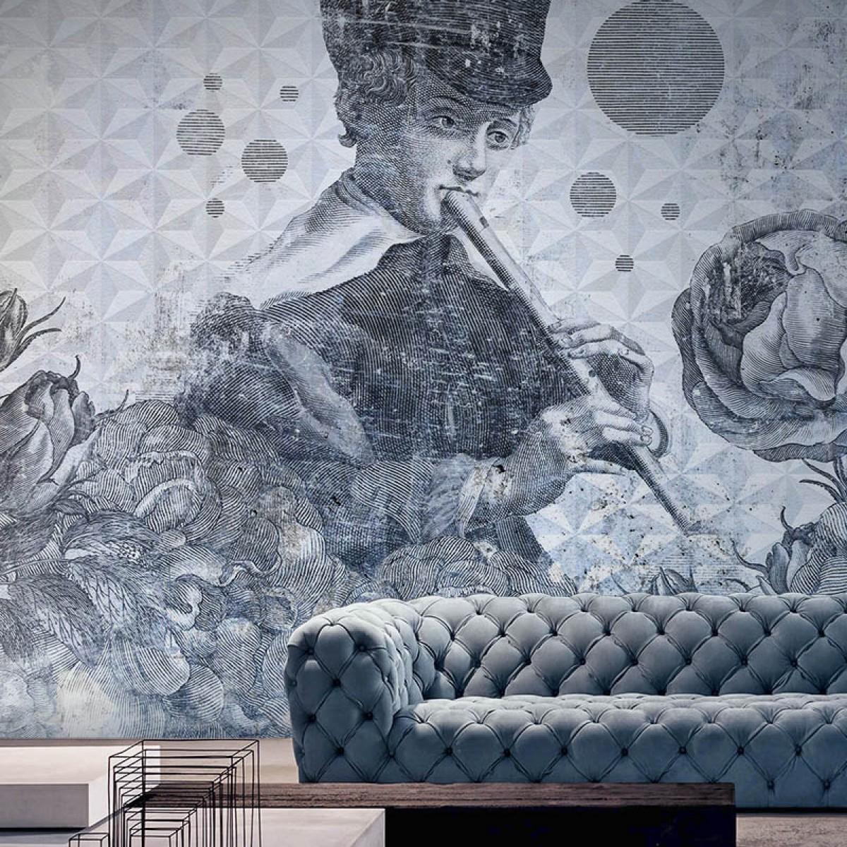 Fototapet contemporan Blue Melody, personalizat, Idea Murale