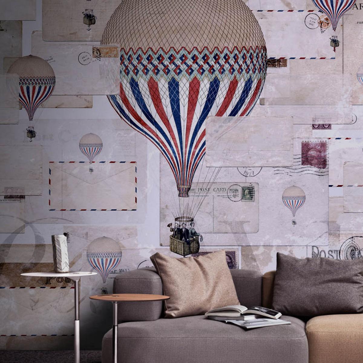 Fototapet contemporan Par Avion, personalizat, Idea Murale