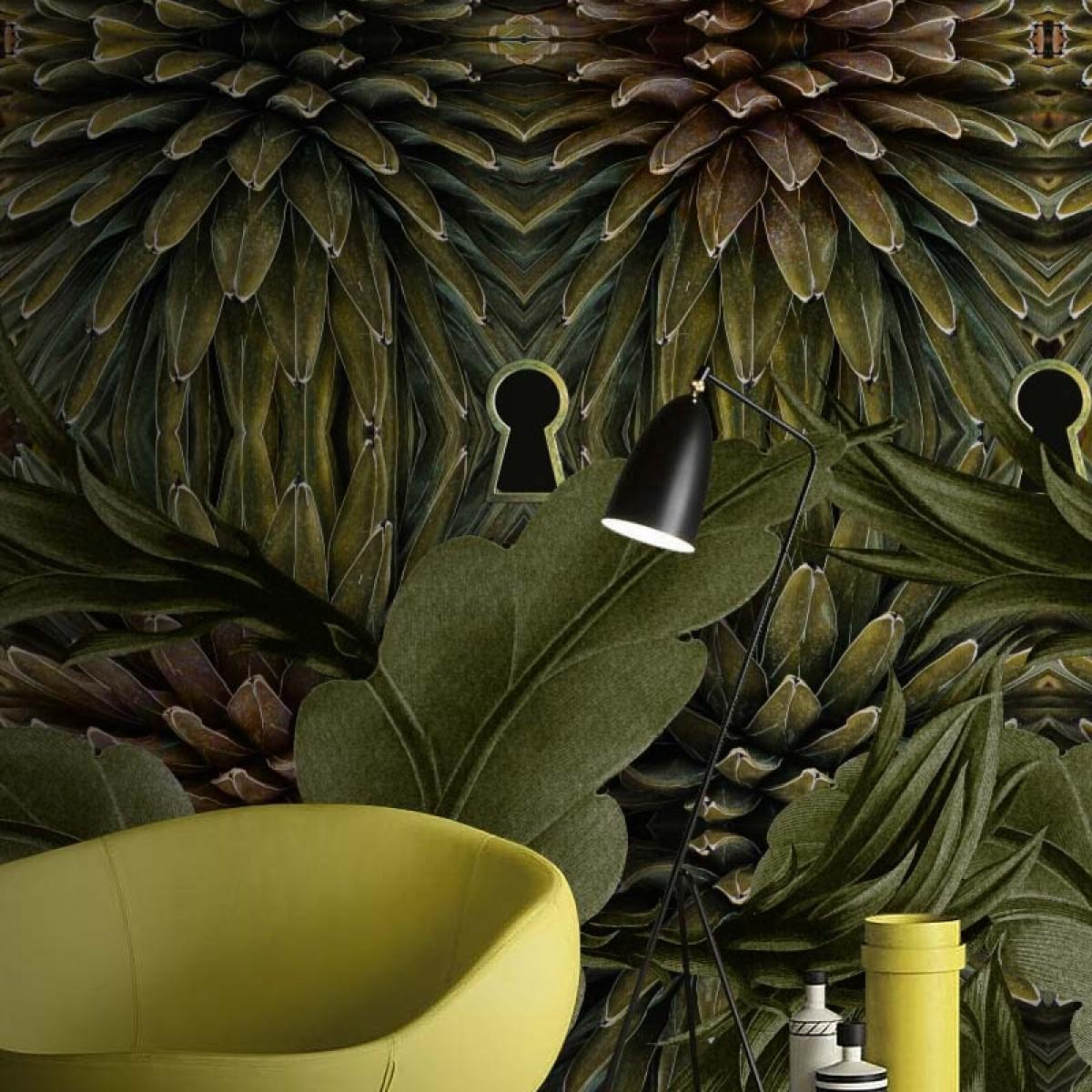 Fototapet contemporan Jungle Secrets, personalizat, idea murale